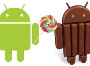 Android Kitkat ve Android L Resimli Karşılaştırma
